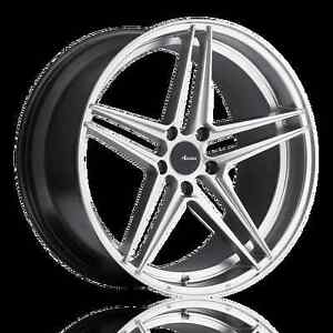 19x9 5 Advanti Racing Rein 5x114 3 40 Silver Wheels Fits Honda Accord 2008 2012