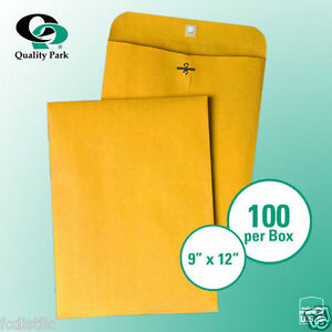 2 Boxes Of Quality Park Clasp Envelope 9 X 12 Kraft 100 Per Box 200 Total