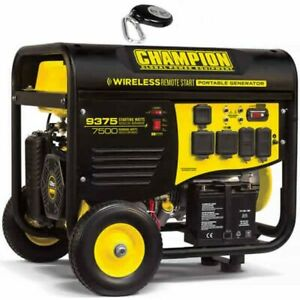 Champion 100161 7500 Watt Electric Start Generator W Rv Outlet