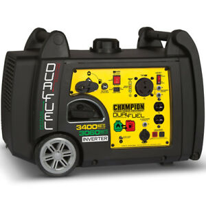 Champion 100263 3100 Watt Dual Fuel Inverter Generator W Rv Outlet