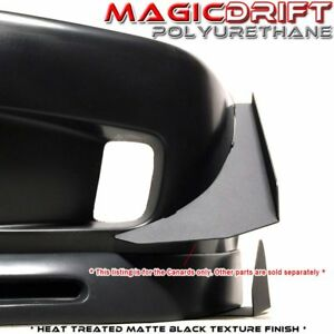 Front Bumper Black Aluminum Canards Splitter Diffuser Wing For Honda Civic Ek