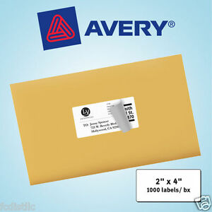 Avery Laser Mailing Labels 2 X 4 White 1 000ct
