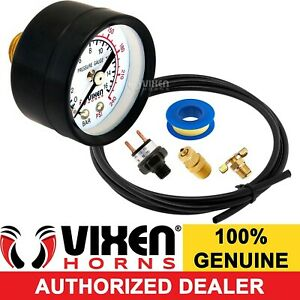 Onboard Train Horn Air Tank Installation Kit W Gauge switch valve hose Vxk0599