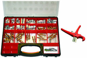 Air Hose Repair Kit With Fittings Ferrules Container Cutter no Crimper