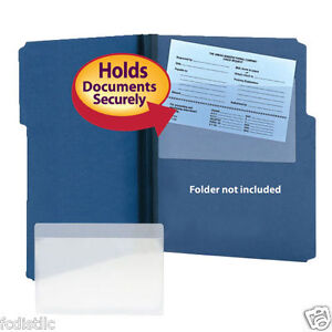 Smead Self adhesive Poly Pocket 9 X 5 9 16 Clear 100ct For Folders Binders Etc