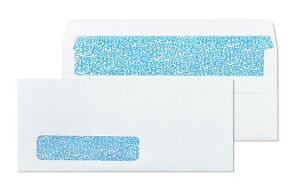 10 With Window Flip Stick Security Tinted Blank Envelopes 500 box