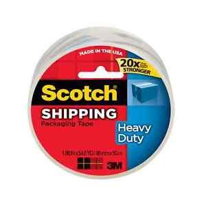 Scotch Heavy Duty Shipping Packaging Tape 1 88 Inches X 54 6 Yards 1 Ea 5pk