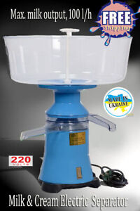 Milk Cream Electric Centrifugal Separator Plastic 100l h New