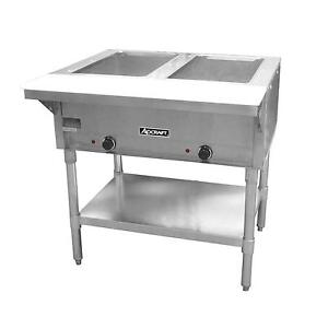 Adcraft St120 2 2 Bay Open Well Steam Table Ce