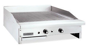 American Range Artg 48 Counter Unit 48 Inch Thermostatic Gas Griddle With Stee