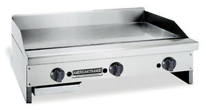 American Range Armg 24 Counter Unit 24 Inch Manual Gas Griddle With Steel Plat