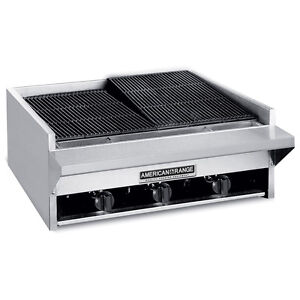 American Range Aecb 24 Heavy Duty 24 Inch Lava Rock Gas Charbroiler Counter Mo