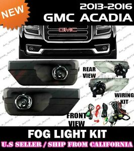 13 14 15 16 Gmc Acadia Fog Light Driving Lamp Kit W Switch Wiring clear