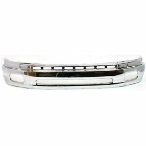 Front Bumper Face Bar Chrome Finish For 2000 2002 Toyota Tundra To1002170