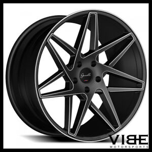 22 Gianelle Parma Black Concave Wheels Rims Fits Porsche Cayenne S Turbo Gts