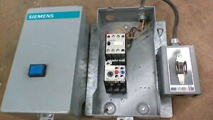 Siemens Motor Starter 3tf4022 oa With Enclosure With 3 Pole Switch 3ua50 00 1a