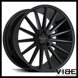 22 Gianelle Verdi Black Concave Wheels Rims Fits Dodge Charger Rt Se Srt8