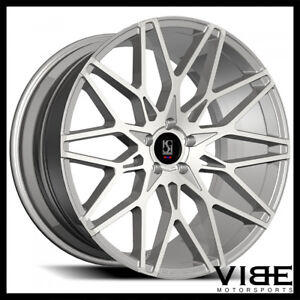 22 Koko Kuture Funen Silver Concave Wheels Rims Fits Dodge Charger Rt Se Srt8