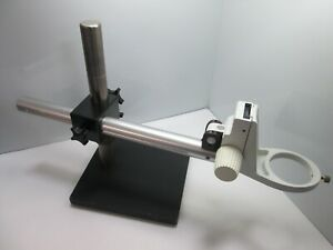 Stereo Microscope Boom Arm Stand Base Leica 3 Ring Focusing Mount 10 18 t