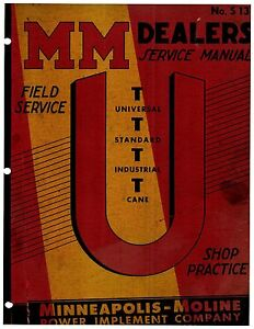 Minneapolis Moline U Ut Tractor Service Manual Reproduction