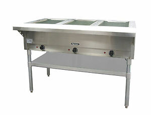 Adcraft St 120 3 3 Bay Steam Table
