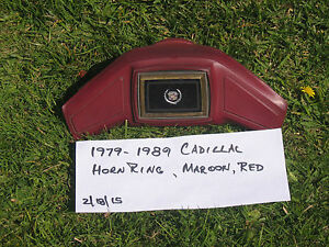 1977 1989 Cadillac Horn Ring maroon horn fleetwood deville steerng Wheel Center