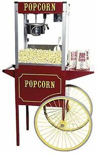 New Paragon Theater Pop 6 Ounce Popcorn Popper Machine Cart Combo Made In Usa