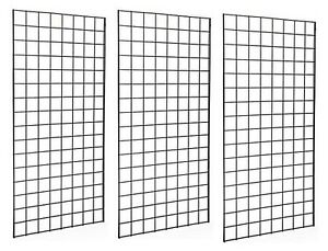 2 X 4 Deluxe Black Wire Gridwall Retail Display Panels Case Of 3 Free Shipping