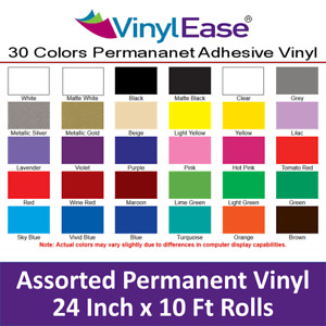 5 Rolls Of 24 In X 10 Ft Permanent Sign Craft Vinyl Upick From 30 Colors V0323