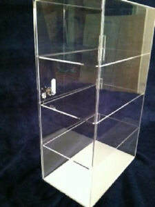 Acrylic Counter Top Display Case 12 X 8 X 19 5 Locking Security Show Case