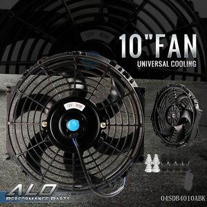 10 Universal Slim Fan Push Pull Electric Radiator Cooling 12v 1570 Cfm New
