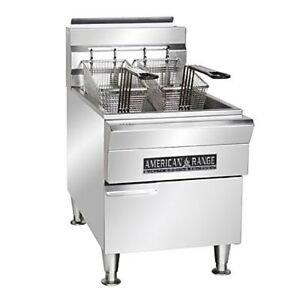 American Range Afct 15 Deep Fat Fryer With Storage Cabinet Countertop