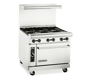 American Range Ar 6c Heavy Duty Gas 36 Inch 6 Burners Restaurant Range