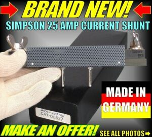Nib New Simpson Multicorder 25 Amp Current Shunt 06527 605 606 604 Goerz Electro