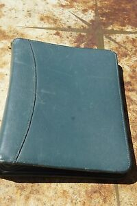 Green Franklin Quest Covey Planner Full Garinleather 1 5 7 ring Zipper Strap