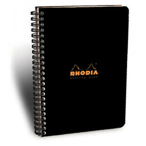 Rhodia Meeting Notebook 9x11 75 Black