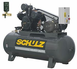 Schulz Air Compressor 10hp 120 Gallons Horizontal Tank 208 230 460 Volts
