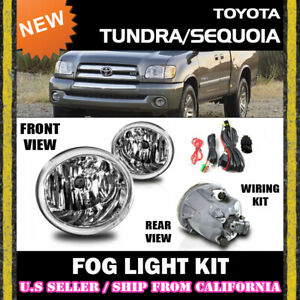 For Toyota 01 07 Tundra Sequoia Fog Lights Driving Lamp Kit Switch Wiring