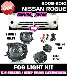 complete Fog Light Kit For Nissan 08 09 10 Rogue W Switch Wiring