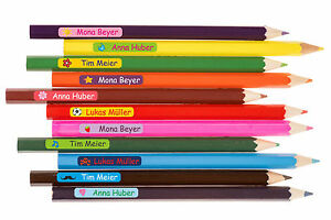 60 Name Labels With Icon Sticker With Name Class For Pencils Scissors Ruler