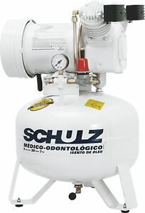 Schulz Air Compressor Oil Free 1hp Dental Medical Compressor
