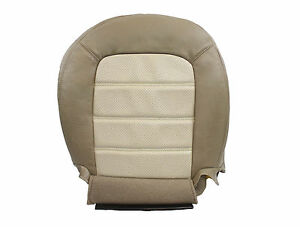 2002 2003 2004 2005 Ford Explorer Bottom Perforated Leather Seat Cover 2tone Tan