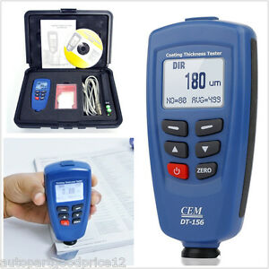 Cem Dt156 Professional Paint Coating Thickness Tester Meter Car F nf Probe Gauge