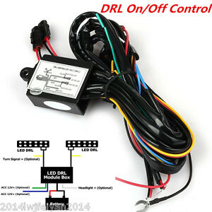 Car Suv Led Daytime Running Light Drl Relay Harness Automatic On Off Control Box