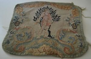 Gorgeous Antique French Hand Woven Figural Tapestry Piece Ss24