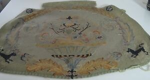 Gorgeous Antique French Hand Woven Floral Tapestry Piece Ss32