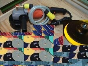 Variable Speed Wet Polisher Polishing Pad 24 1 Granite Concrete Marble Terrazzo