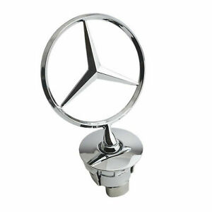 Mercedes Benz Standing Star Hood Mount Emblem Ornament Badge New With Box