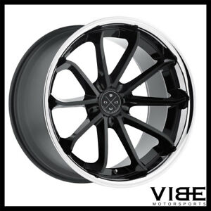 22 Blaque Diamond Bd23 Black Concave Wheels Rims Fits Chrysler 300