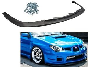 Fit For 06 07 Subaru Impreza Wrx Sti S204 Front Bumper Lip Spoiler Body Kit Pp